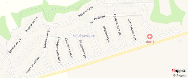 Кленовая улица на карте Никольского села Белгородской области с номерами домов