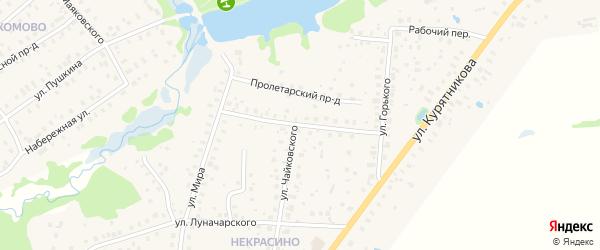 Пролетарская улица на карте Высоковска с номерами домов