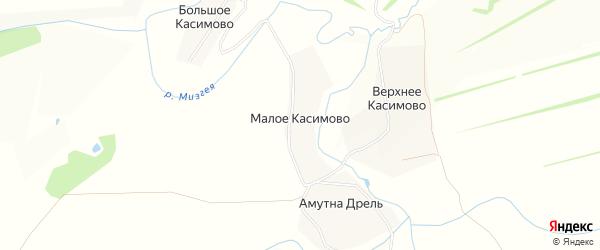 Карта деревни Малое Касимово в Тульской области с улицами и номерами домов
