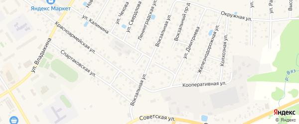 Вокзальная улица на карте Высоковска с номерами домов