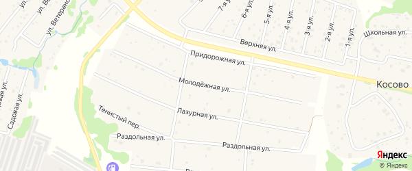 Улица Молодежная улица на карте Высоковска с номерами домов