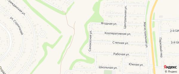 Сенокосная улица на карте Таврово 1-й микрорайона с номерами домов