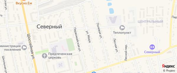 Улица Мира на карте Северного поселка с номерами домов
