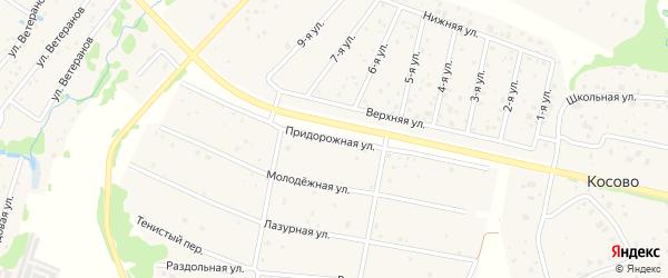 Улица Придорожная улица на карте Высоковска с номерами домов