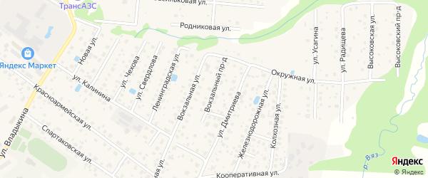 Вокзальный проезд на карте Высоковска с номерами домов