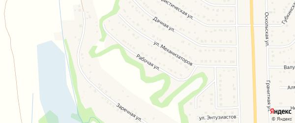 Рабочая улица на карте Никольского села Белгородской области с номерами домов