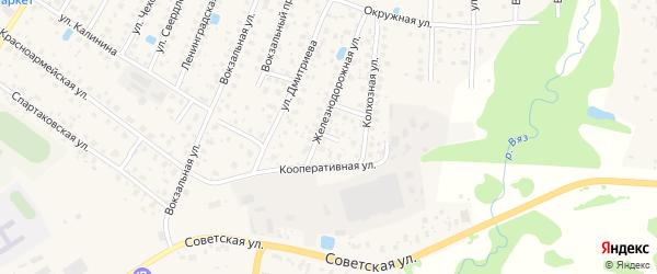 Тихий 1-й переулок на карте Высоковска с номерами домов