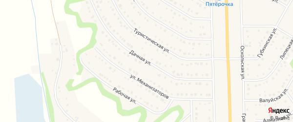 Дачная улица на карте Никольского села Белгородской области с номерами домов