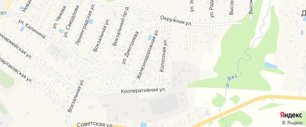 Тихий 2-й переулок на карте Высоковска с номерами домов