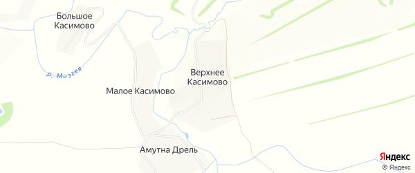 Карта деревни Верхнее Касимово в Тульской области с улицами и номерами домов