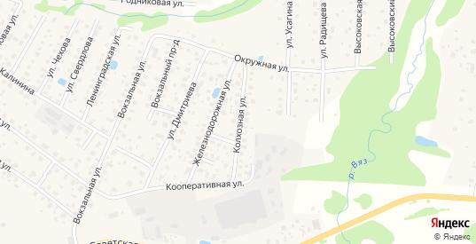 Колхозная улица в Высоковске с номерами домов на карте. Спутник и схема онлайн