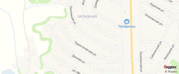 Тополиная улица на карте Никольского села Белгородской области с номерами домов