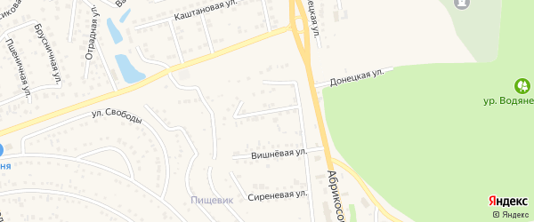 Каштановая улица на карте Таврово 1-й микрорайона с номерами домов