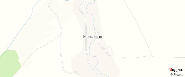 Карта деревни Малыхино в Тульской области с улицами и номерами домов