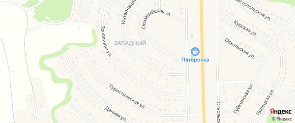 Интернациональная улица на карте Никольского села Белгородской области с номерами домов
