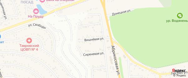Вишневая улица на карте Таврово 1-й микрорайона с номерами домов