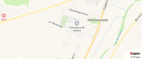 Улица Филатова на карте Никольского села Белгородской области с номерами домов