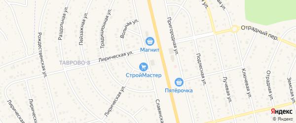 Славянская улица на карте Таврово 8-й микрорайона с номерами домов
