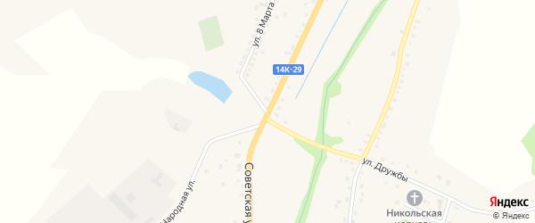 Советская улица на карте Никольского села Белгородской области с номерами домов
