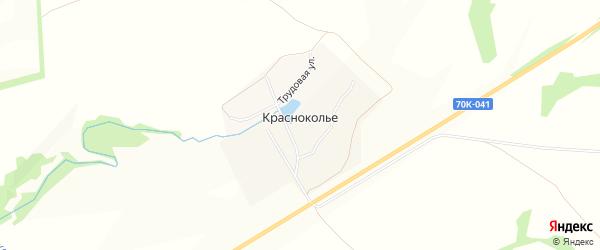 Карта деревни Красноколье в Тульской области с улицами и номерами домов