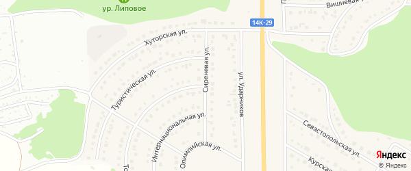 Сиреневая улица на карте Никольского села Белгородской области с номерами домов