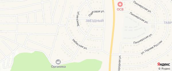 Земская улица на карте Никольского села Белгородской области с номерами домов