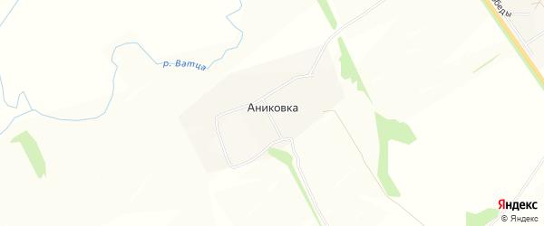 Карта деревни Аниковки в Тульской области с улицами и номерами домов
