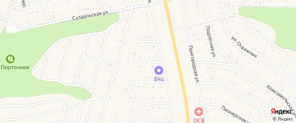 Северный 2-й переулок на карте Никольского села Белгородской области с номерами домов