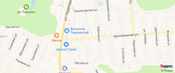 Магистральная улица на карте Таврово 4-й микрорайона с номерами домов