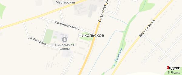 Коммерческая улица на карте Никольского села Белгородской области с номерами домов