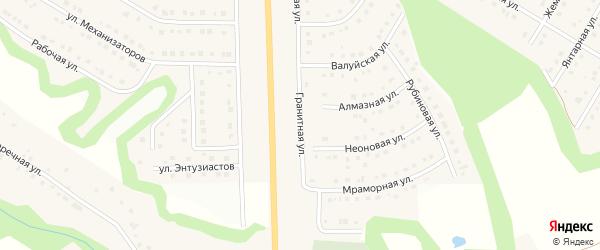 Гранитная улица на карте Никольского села Белгородской области с номерами домов
