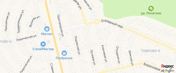 Лучевая улица на карте Таврово 9-й микрорайона с номерами домов