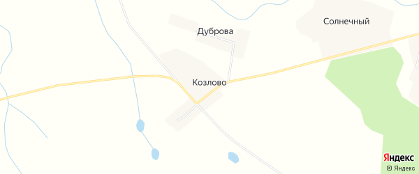 Карта деревни Козлово в Тверской области с улицами и номерами домов