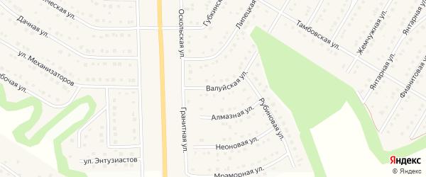 Валуйская улица на карте Никольского села с номерами домов