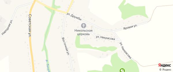 Светлый переулок на карте Никольского села Белгородской области с номерами домов