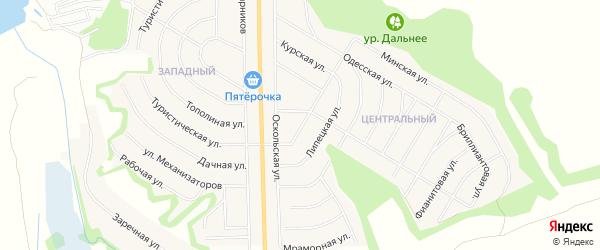 Садовое товарищество Механизатор на карте Никольского села Белгородской области с номерами домов