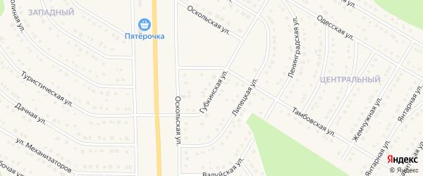 Волгоградская улица на карте Никольского села Белгородской области с номерами домов