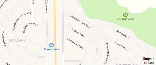 Курская улица на карте Никольского села Белгородской области с номерами домов