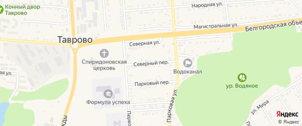 Северный переулок на карте Таврово 4-й микрорайона с номерами домов