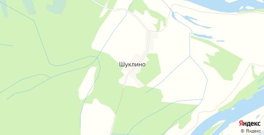 Карта деревни Шуклино в Вологодской области с улицами, домами и почтовыми отделениями со спутника онлайн
