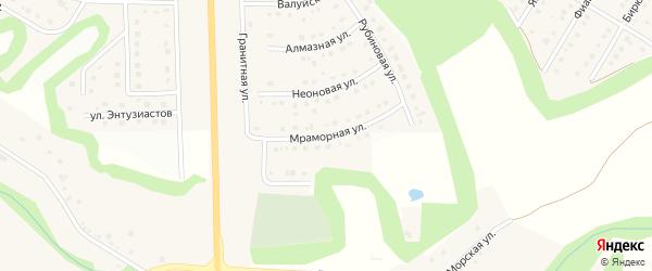 Мраморная улица на карте Никольского села Белгородской области с номерами домов