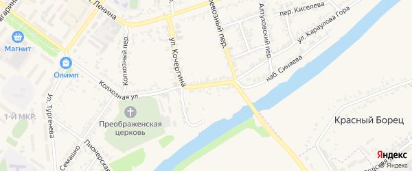 Улица Кочергина на карте Мценска с номерами домов