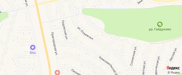 Улица Отважных на карте Никольского села Белгородской области с номерами домов