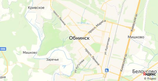Карта Обнинска с улицами и домами подробная. Показать со спутника номера домов онлайн
