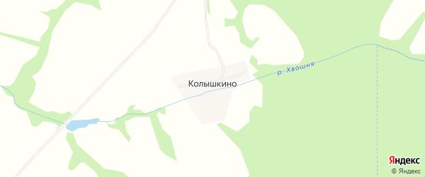 Карта деревни Колышкино в Тульской области с улицами и номерами домов