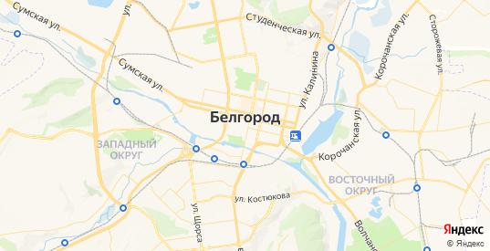 Карта Белгорода с улицами и домами подробная - показать