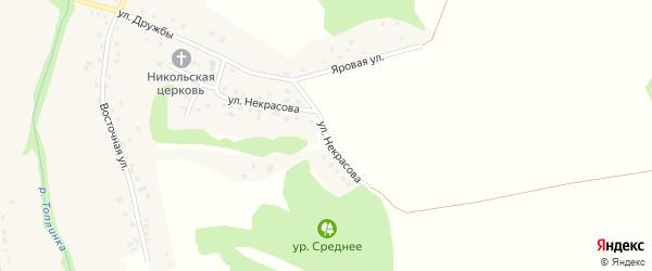 Улица Некрасова на карте Никольского села Белгородской области с номерами домов