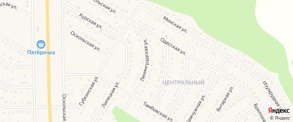 Ленинградская улица на карте Никольского села Белгородской области с номерами домов