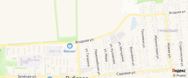 Ягодная улица на карте поселка Дубового с номерами домов