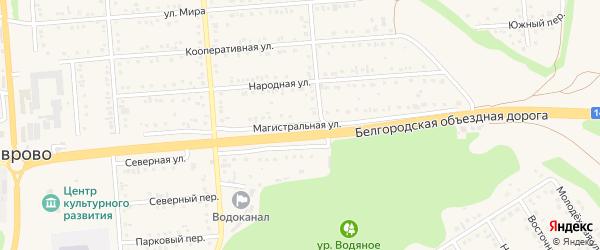 Магистральная улица на карте Таврово 2-й микрорайона с номерами домов